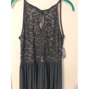 NW Lace Sequin Maxi Dress